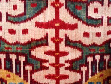 Silk ikat fragment