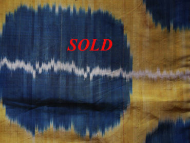 Yellow blue ikat